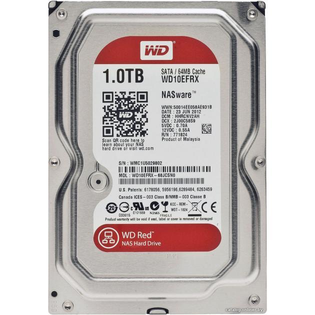 Жесткий диск Western Digital Red WD10EFRX