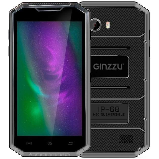 Смартфон Ginzzu RS95D 16Гб, Серый, Dual SIM, 4G (LTE), 3G digma linx a420 3g 4гб белый dual sim 3g