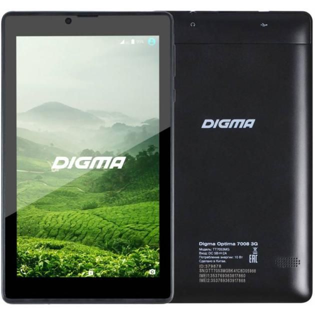Digma Optima 7008 3G Wi-Fi и 3G, Черный, Wi-Fi
