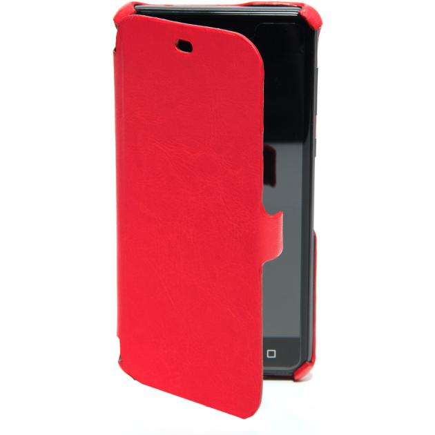 Чехол BQ-Mobile Чехол-книжка для BQS 5050 Strike Selfie чехол-книжка, экокожа, Красный аксессуар чехол bq bqs 5050 strike selfie zibelino classico black zcl bq bqs 5050 blk