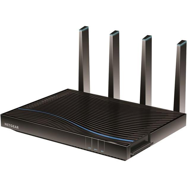 Роутер Netgear D8500-100EUS Черный, 5300Мбит/с, 2.4, 5 wi fi роутер netgear r7100lg 100eus r7100lg 100eus