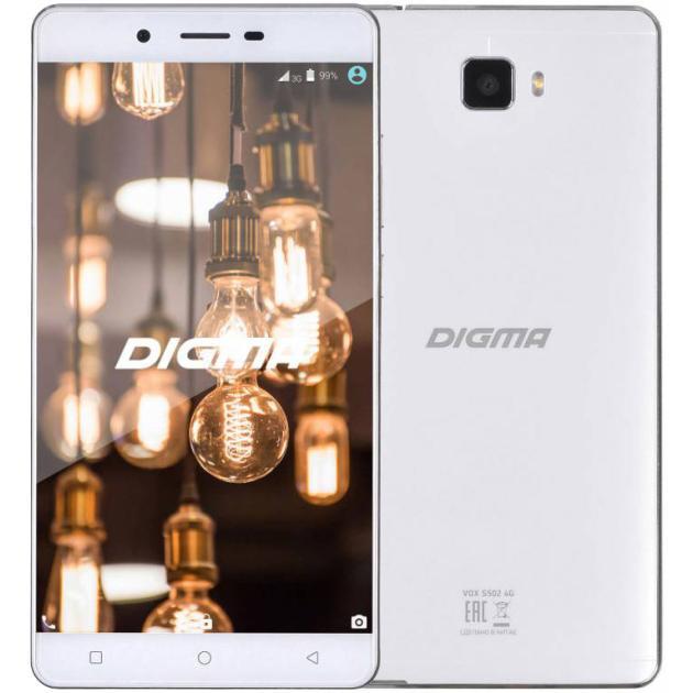 Смартфон Digma VOX S502 4G Белый digma vox s502 3g