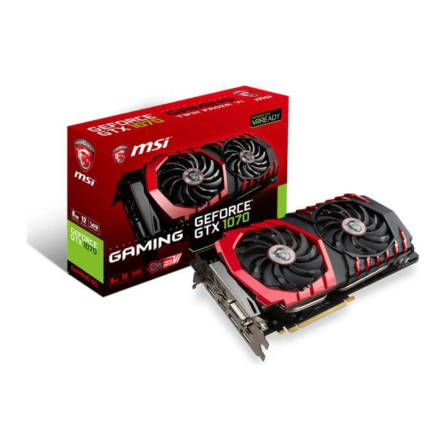 Видеокарта MSI GeForce GTX 1070 Gaming PCI-E 16x 3.0, 8192Мб, GDDR5 видеокарта msi gtx 960 gaming 100me gtx 960 2гб gddr5 retail