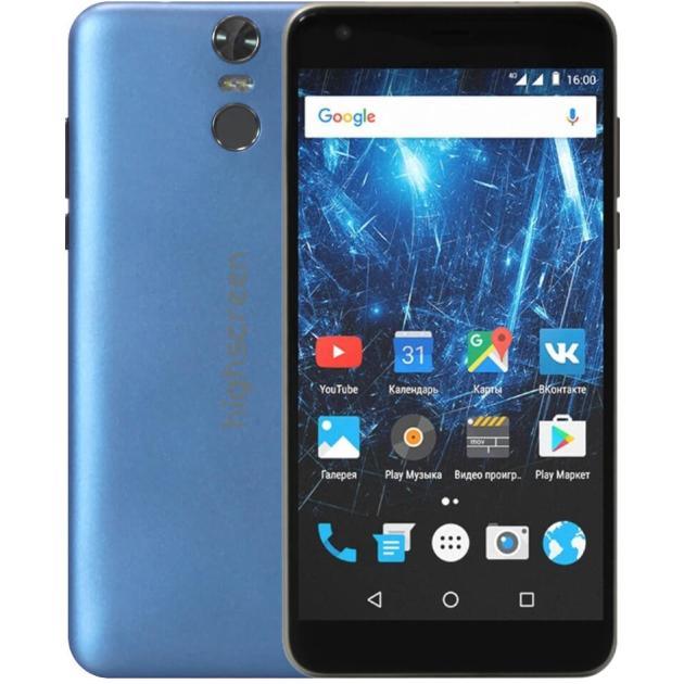 Смартфон Highscreen Easy XL Pro Синий защитное стекло для highscreen easy s s pro