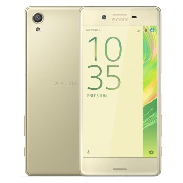Смартфон Sony Xperia X 32Гб, Золотой, 1 SIM смартфон sony xperia x compact white android 6 0 marshmallow msm8956 1800mhz 4 6 1280x720 3072mb 32gb 4g lte [f5321white]