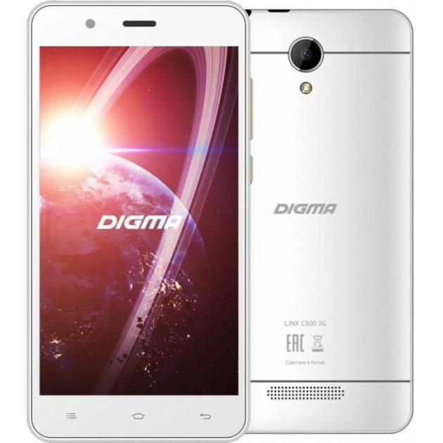 Смартфон Digma Linx C500 Белый digma linx a420 3g 4гб белый dual sim 3g