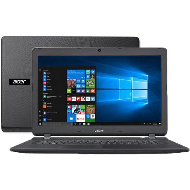 "Acer Aspire ES1-732 17.3"", Intel Celeron, 1600МГц, 2Гб RAM, DVD нет, 500Гб, Черный, Wi-Fi, Windows 10, Bluetooth"