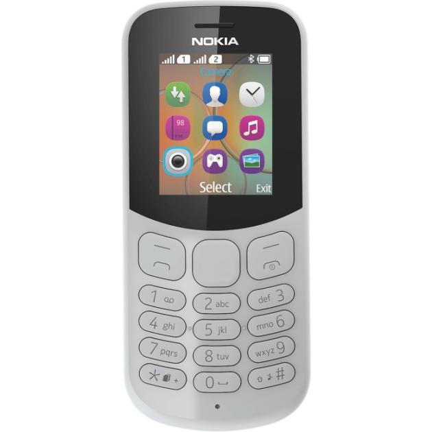 Nokia 130 2017 Серый, 2 SIM