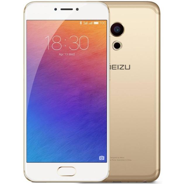 Смартфон Meizu Pro 6 64Гб, Золотой