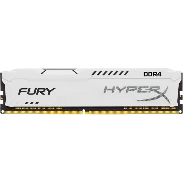 Оперативная память Kingston HyperX Fury HX421C14FW/16 DDR4, 16GB, PC4-17000, 2133, Белый kingston technology kingston hyperx fury hx318c10f 16 гб 2 модуля белый