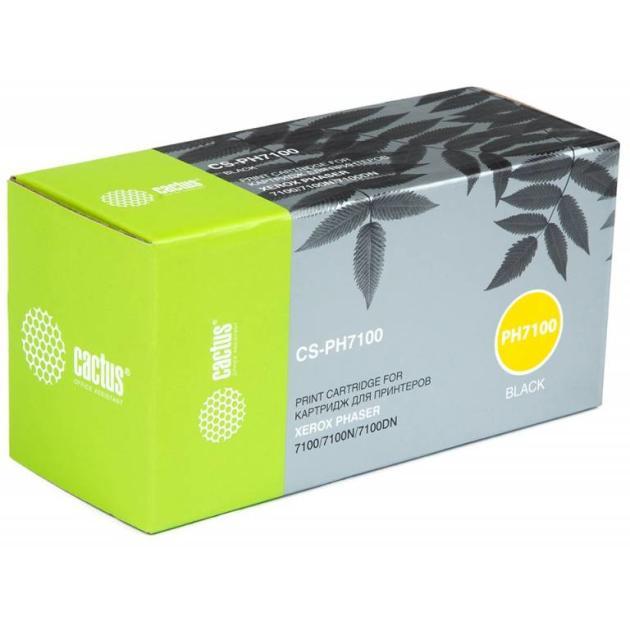 Картридж Cactus CS-PH7100 Серый, Тонер-картридж, Стандартная, Черный картридж cactus cs cli521bk черный