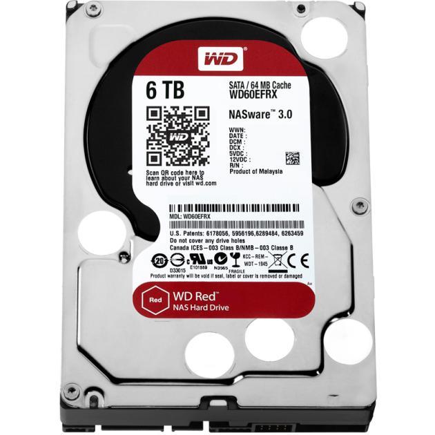 Жесткий диск Western Digital Red WD60EFRX