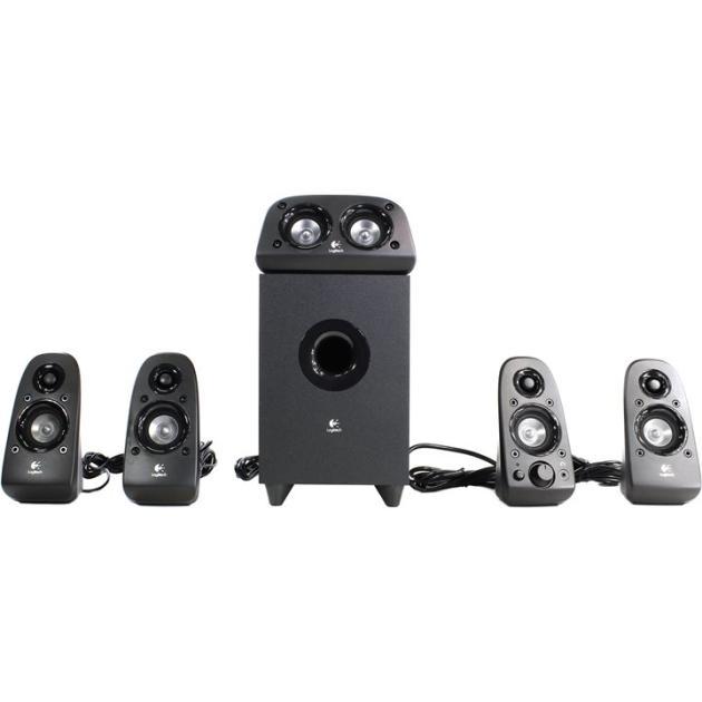 Logitech Z506 Черный, 5.1, RCA/mini jack, Пластик