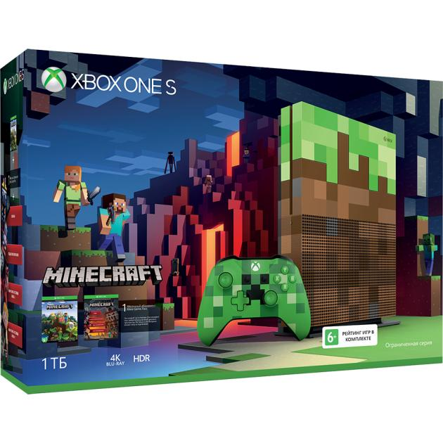 Xbox One S 1Тб Minecraft Limited Edition