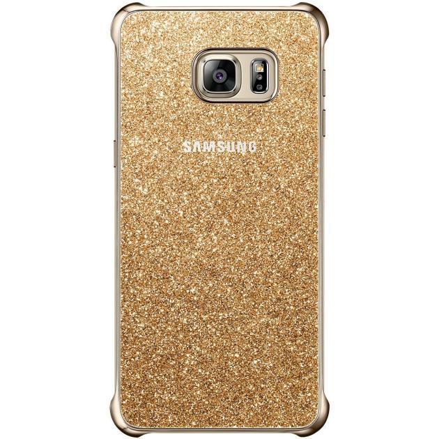 Купить со скидкой Samsung Glitter Cover для Samsung Galaxy S6 Edge Plus задняя крышка, полимер, Золотой