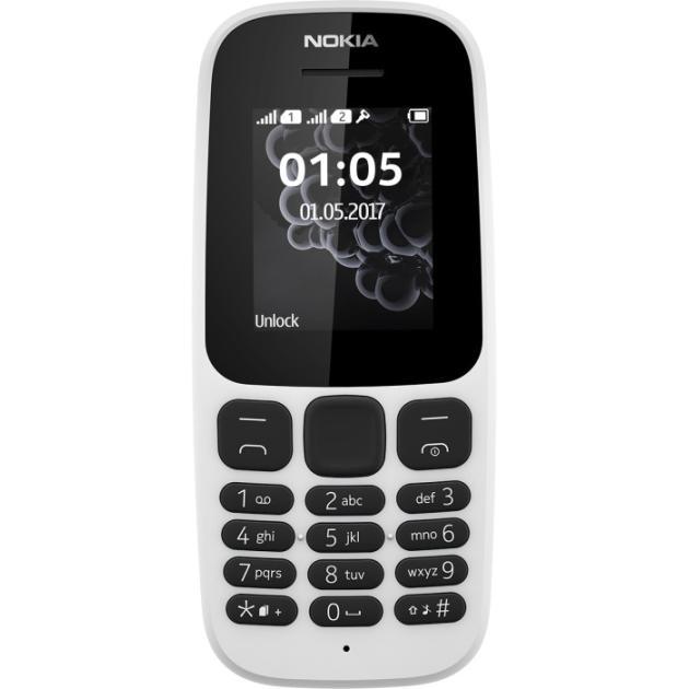 Nokia 105 2017 Белый, 2 SIM
