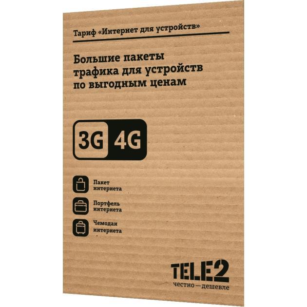 SIM-карта Tele2 SIM-карта Tele2 Интернет для устройств какой мобильник в районе 10 000 с 2 sim