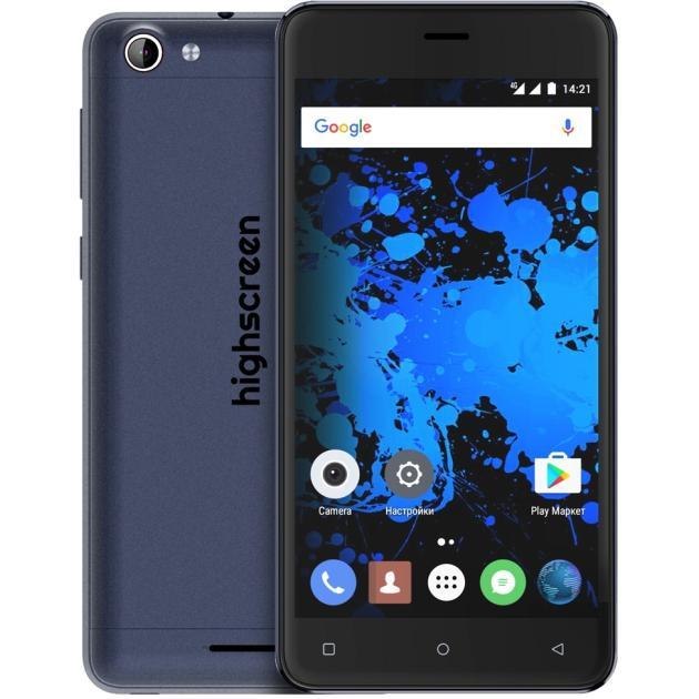 Смартфон Highscreen Power Rage Evo Синий смартфон highscreen power five evo белый
