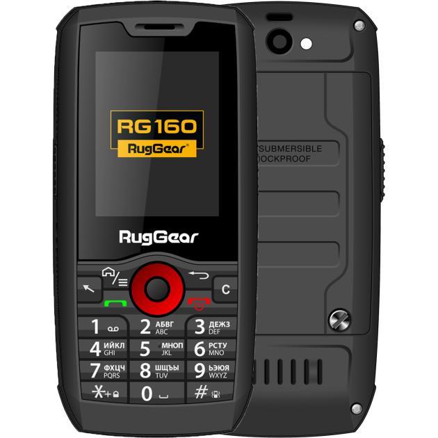 Мобильный телефон RugGear RG 160 Черный, 0.256Гб, 2 SIM, 3G защищенный смартфон ruggear rg 500