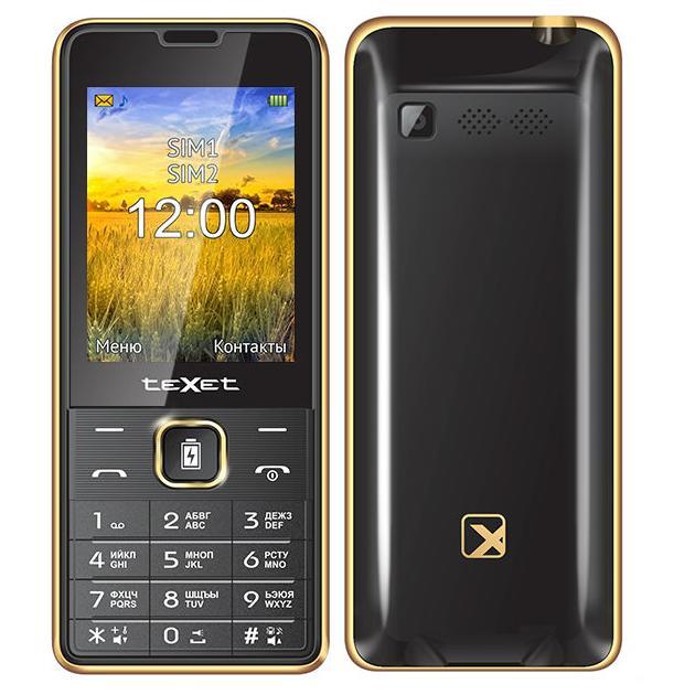 Мобильный телефон teXet TM-D227 Черно-золотой телефон нокиа черно белый в кривом роге