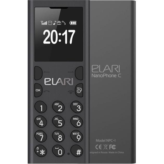 Мобильный телефон Elari NanoPhone C 2017 Чёрный антрацит аксессуар чехол elari для elari cardphone и iphone 6 plus blue