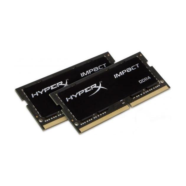 Kingston HyperX Impact HX424S14IB2K2/16 DDR4, 2, 16Гб, PC4-19200, 2400МГц, SO-DIMM