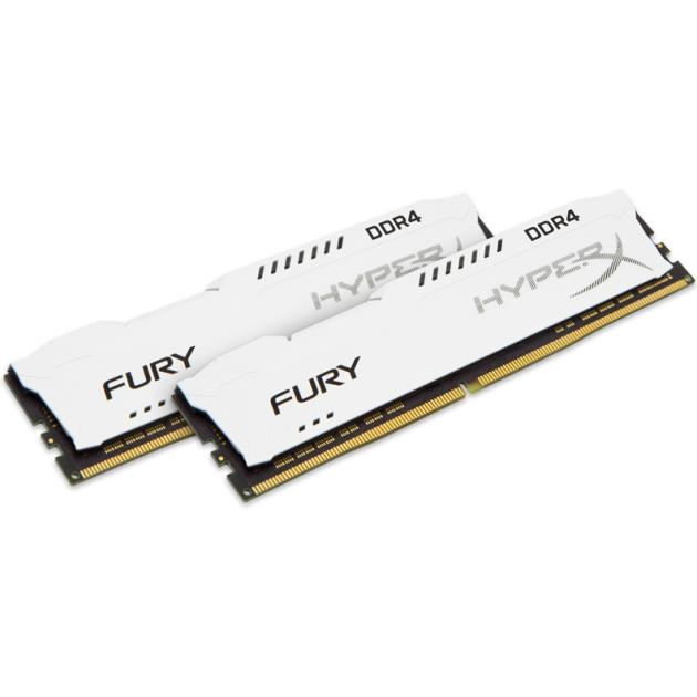 Оперативная память Kingston HyperX Fury HX421C14FW2K2/16 DDR4, 16Гб, PC-17000, 2133МГц, DIMM kingston technology kingston hyperx fury hx318c10f 16 гб 2 модуля белый