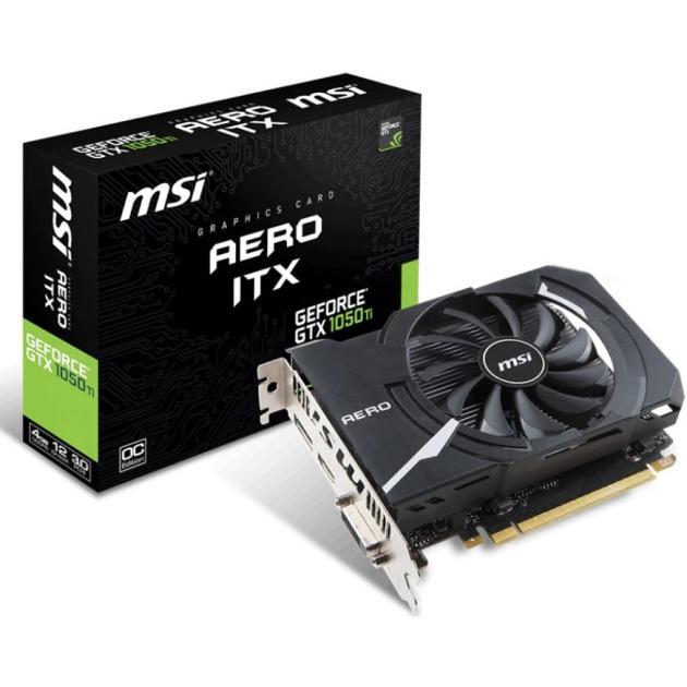 все цены на  Видеокарта MSI GeForce GTX 1050 TI AERO ITX 4G OC  онлайн