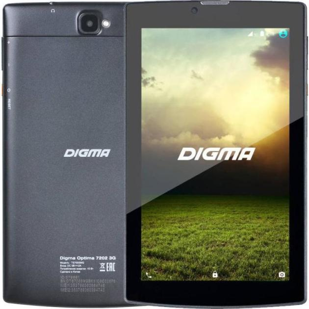 Digma Optima 7202 3G Wi-Fi и 3G, Черный, Wi-Fi, 8Гб