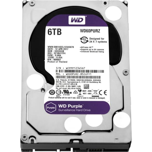 Western Digital Purple 6000Гб
