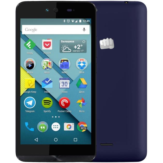 Смартфон Micromax Canvas Magnus 2 Q338 Синий смартфон micromax q3551 bolt juice 3g 8gb champagne