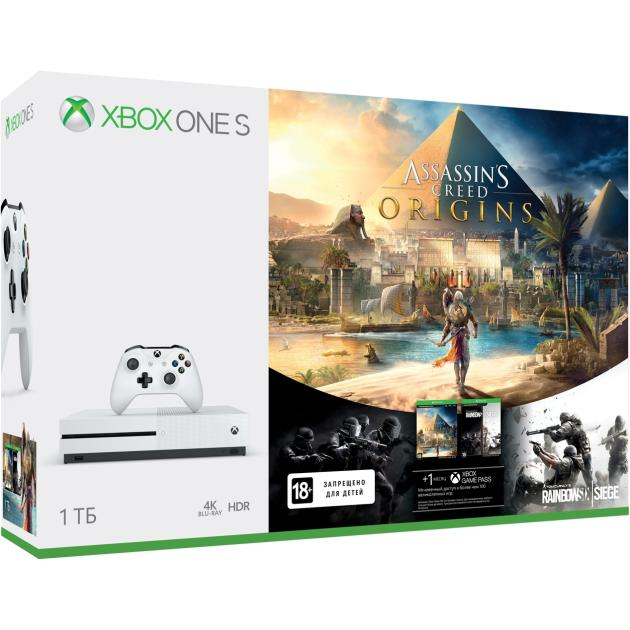 Консоль Microsoft Xbox One S 1 Тб Assasin's Creed Origins + Tom Clancy's Rainbow Six