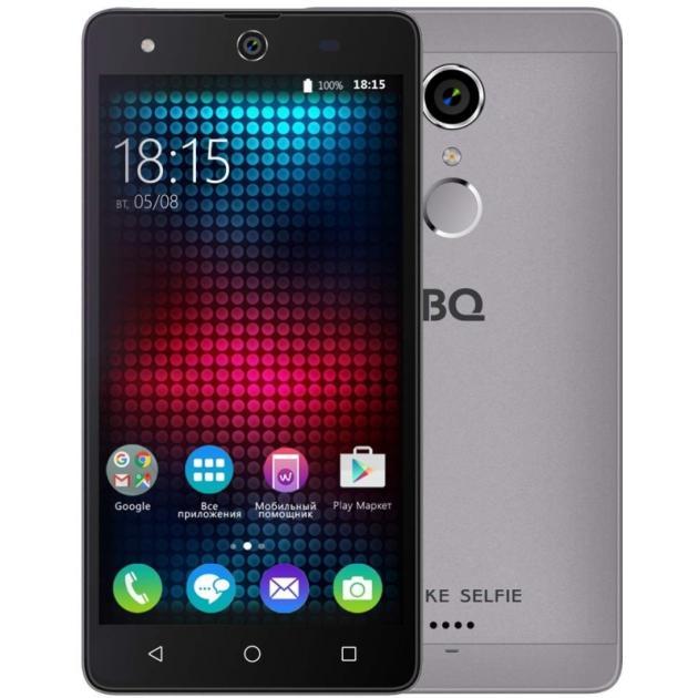 Смартфон BQ-Mobile BQ BQS-5050 Strike Selfie Серый аксессуар чехол bq bqs 5050 strike selfie zibelino classico black zcl bq bqs 5050 blk