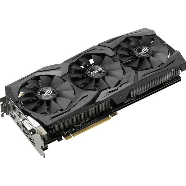 Видеокарта Asus NVIDIA GeForce GTX 1080 STRIX GAMING 8192Мб, GDDR5,1607MHz, STRIX-GTX1080-8G-GAMING asus geforce gtx1080 strix 1670mhz pci e 3 0 8192mb 10010mhz 256bit dvi 2hdmi 2dp strix gtx1080 a8g gami