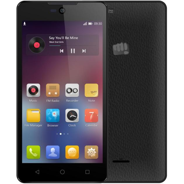 Смартфон Micromax Q340 Черный смартфон micromax bolt q379 yellow
