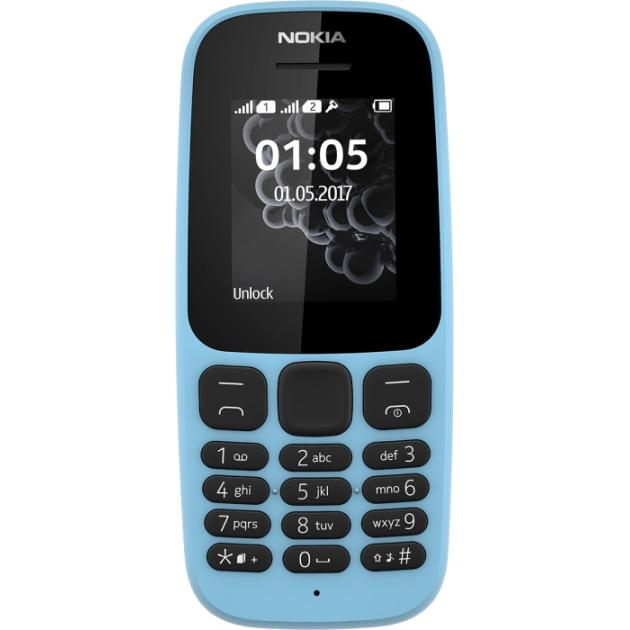 Nokia 105 2017 Голубой, 1 SIM