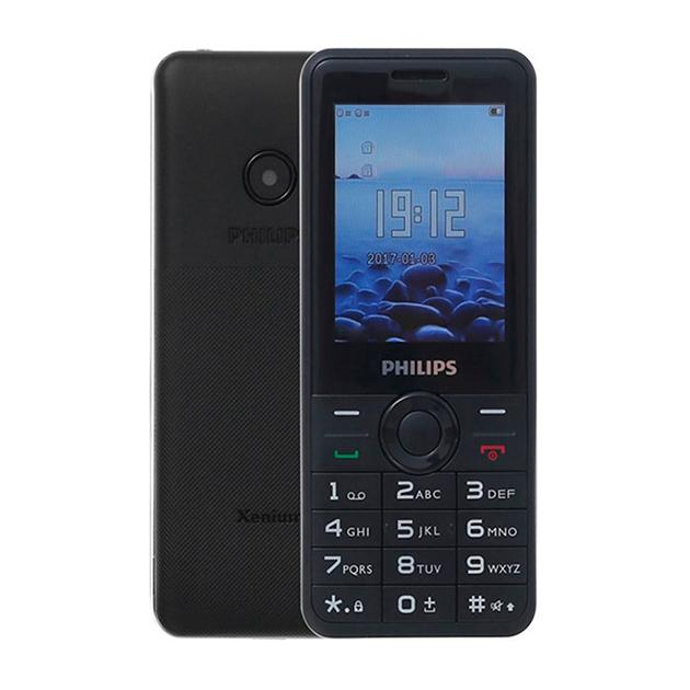 Мобильный телефон Philips Xenium E168 Черный, 0.008Гб, 2 SIM мобильный телефон philips xenium e560 черный 0 016гб 2 sim