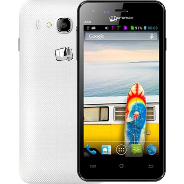 Смартфон Micromax Bolt A69 Белый смартфон micromax bolt pace q402 dark blue