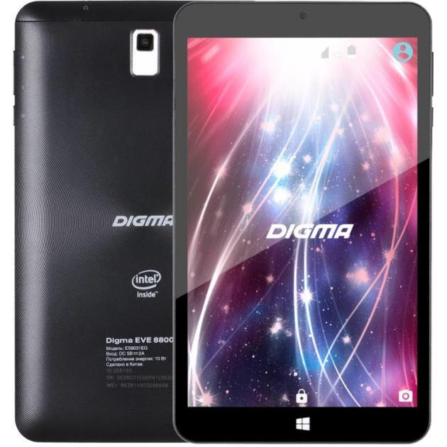 Digma EVE 8800 3G Wi-Fi и 3G, Черный, Wi-Fi, 16Гб
