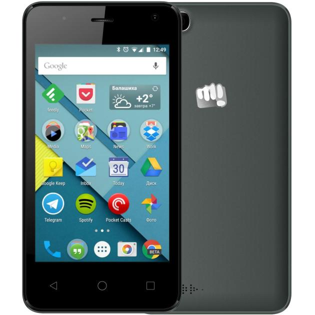 Смартфон Micromax Canvas Pace mini Q401 Черный смартфон micromax bolt pace q402 dark blue