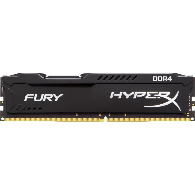 Оперативная память Kingston HyperX Fury HX426C16FB2/8 DDR3, 8Гб, PC3-21300, 2666, Черный модуль памяти kingston hyperx fury pc4 21300 dimm ddr4 2666mhz cl15 8gb hx426c15fb 8