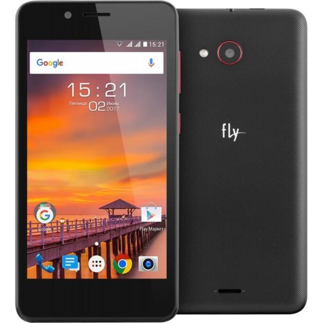 Смартфон Fly FS458 Stratus 7 Черный смартфон fly nimbus 10 fs512 черный