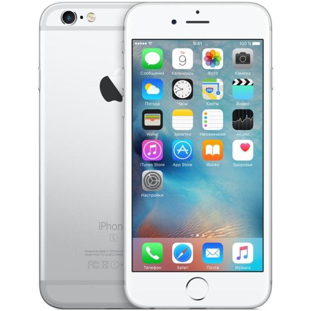 Смартфон Apple iPhone 6s Как новый Серебристый, 128 Гб