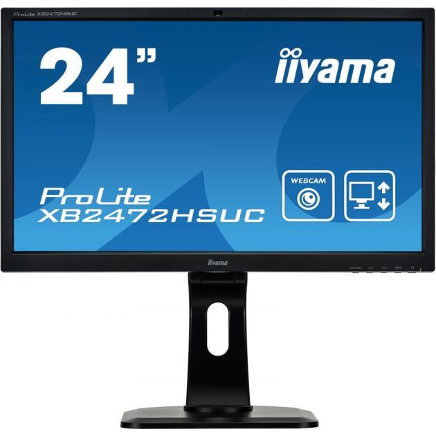 """Iiyama ProLite XB2472HSUC-B1 23.6"""", Черный, VA, 1920x1080, Full HD, DVI, Встроенные колонки"""