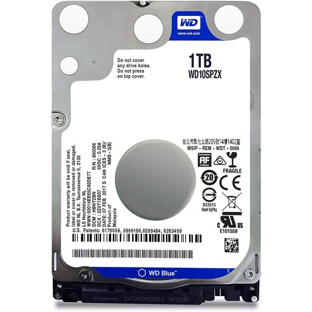 "Western Digital Blue WD10SPZX 1Tb 1000Гб, 600 Мб/с, 2.5"" HDD"