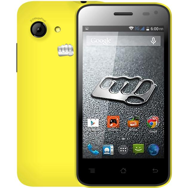 Смартфон Micromax BOLT A79 Желтый смартфон micromax bolt q346 lite 3g 8gb blue