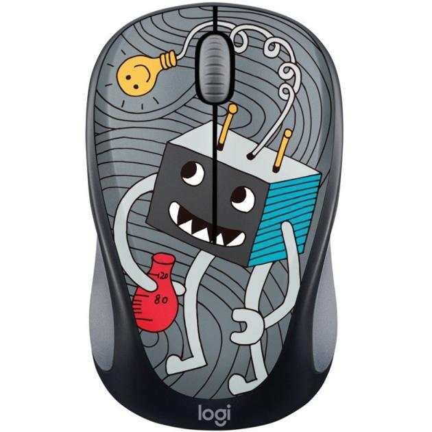 все цены на  Мышь Logitech Wireless Mouse M238 Doodle Collection Lightbulb  онлайн