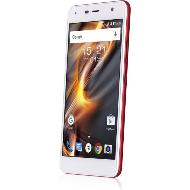 Смартфон Fly FS528 Memory Plus Красный смартфон fly nimbus 10 fs512 черный