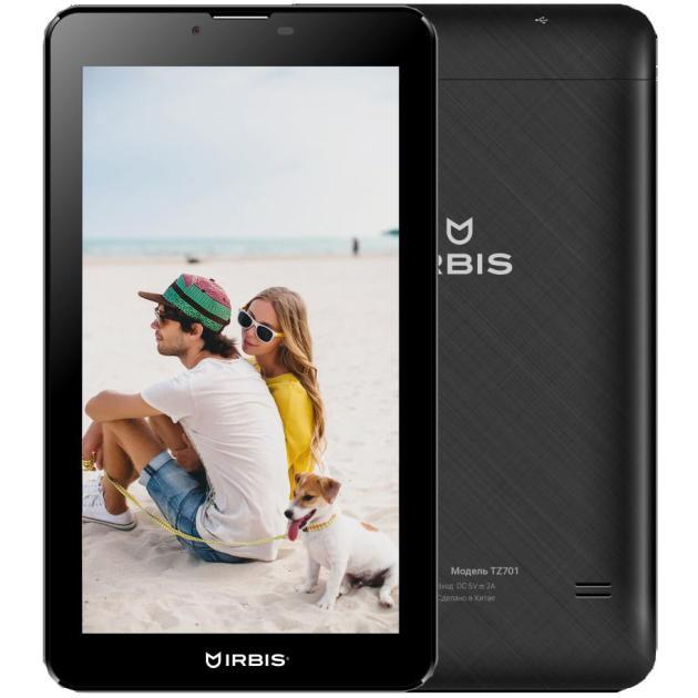 IRBIS TZ701 Wi-Fi и 3G, Черный, 8Гб