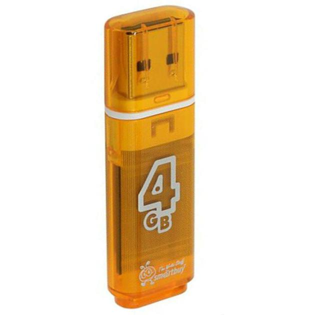 SmartBuy Glossy 4Гб, Оранжевый, USB 2.0